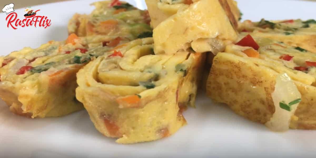 Resepi Telur Gulung Ala Korea| Japanese Egg Rolled Recipe
