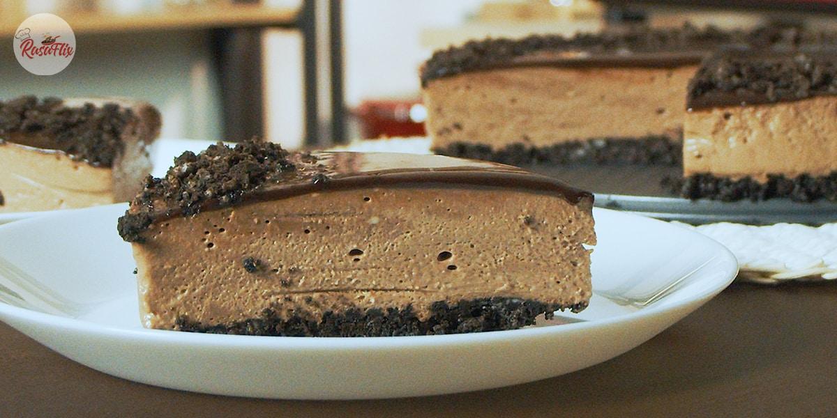 Resepi Kek Keju Coklat Tanpa Bakar|No Bake Chocolate Cheesecake Recipe