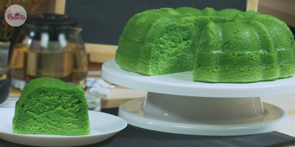 Resepi Kek Pandan Kukus Sedap   Delicious Steamed Pandan Cake Recipe - RasaFlix