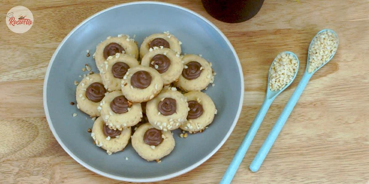Resepi Pod Mini Nutella Berbadam | Mini Nutella Pod With Almond Recipe