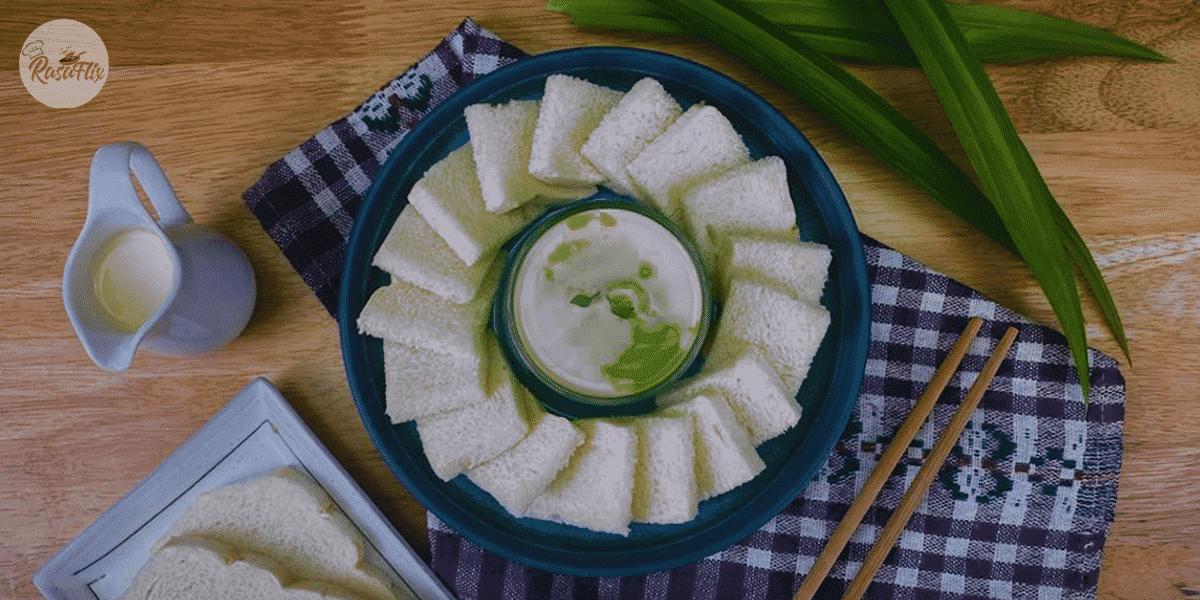 Resepi Sangkaya & Roti Kukus | Pandan Custard with Steamed Bread Recipe