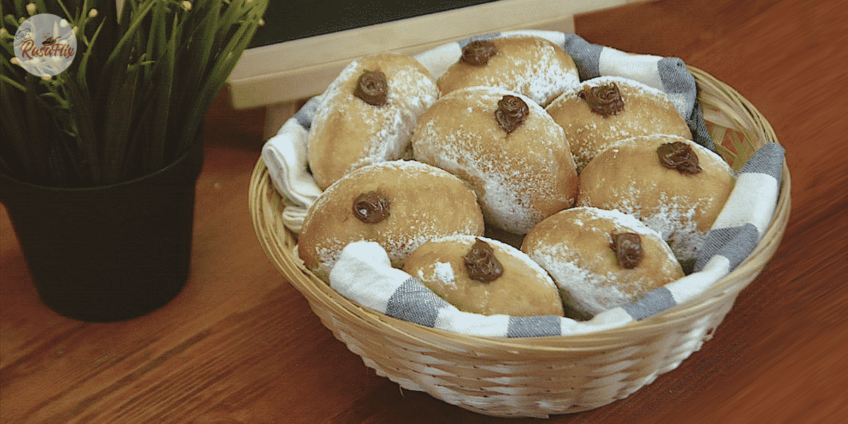 Resepi Bomboloni Coklat Gebu | Fluffy Chocolate Italian Doughnut Recipe