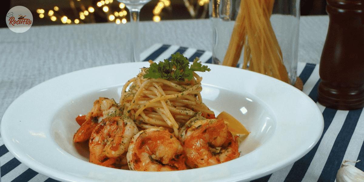 Resepi Pasta Aglio Olio Udang Pedas | Spicy Shrimp Aglio Olio Pasta Recipe