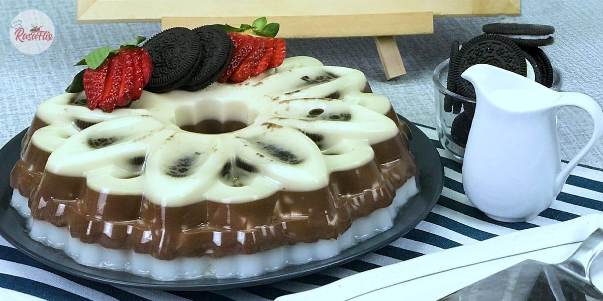 Resepi Agar-Agar Milo Oreo Bak Kayangan | Heavenly Milo Oreo Jelly Recipe
