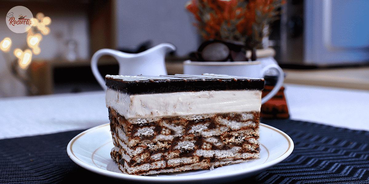 Kek Batik Indulgence Tanpa Bakar | No Bake Batik Indulgence Cake