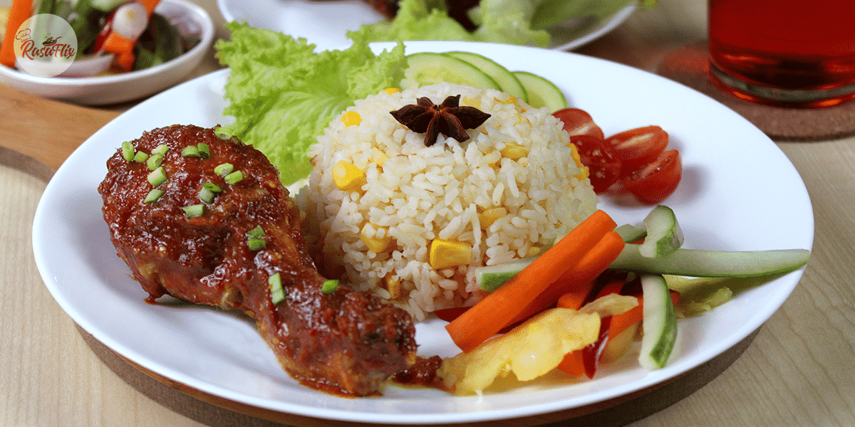 Nasi Jagung Manis Dengan Sambal Ayam | Sweet Corn Rice With Chicken Sambal