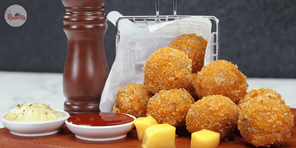 Resepi Bebola Kentang Keju | Cheesy Potato Ball & Mozzarella Cheese Recipe