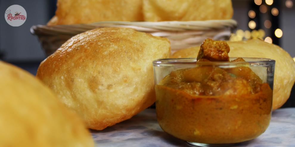 Resepi Roti Puri & Kari Ayam Mudah | Easy Poori & Chicken Curry Recipe