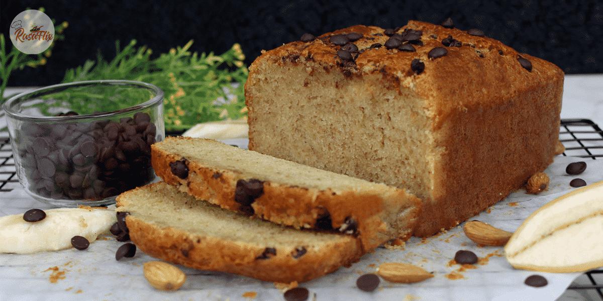 Resepi Kek Pisang Cip Coklat | Banana Cake With Chocolate Chips Recipe