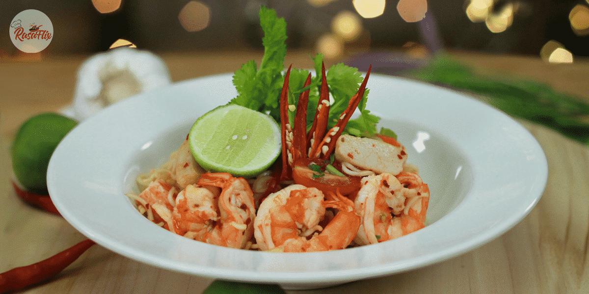 Resepi Kerabu Mi Segera Ala Thai | Thai Style Instant Noodle Salad Recipe