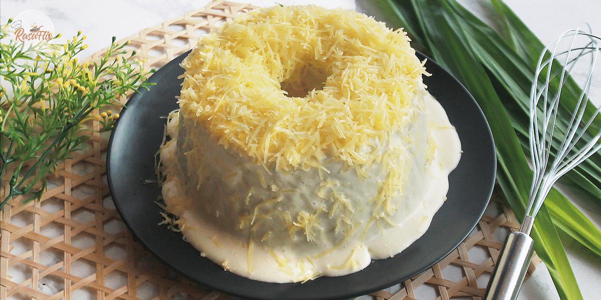 Resepi Kek Pandan Keju Leleh Lailer | Melted Cheese Pandan Cake Recipe