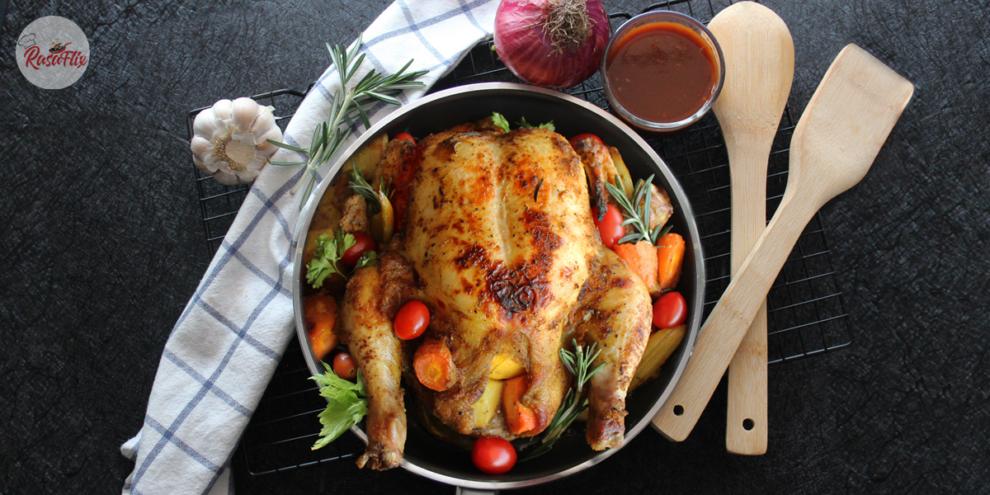 Resepi Ayam Bakar Madu Kuah Pedas   Honey Roasted Chicken Hot Sauce Recipe