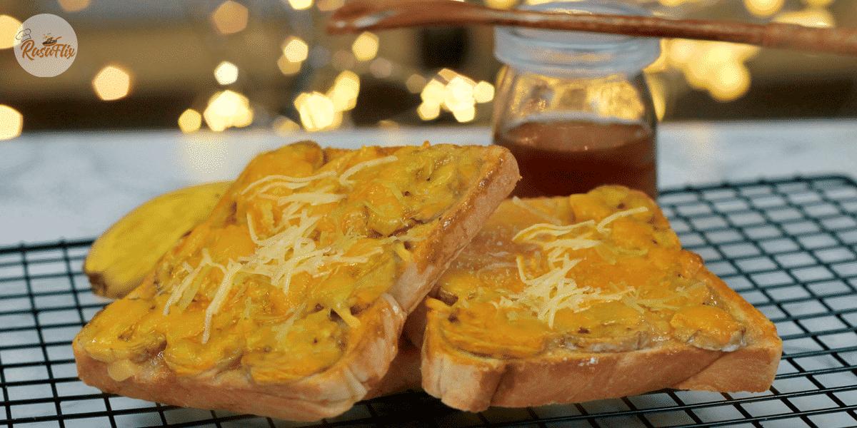 Resepi Roti Pisang Gula Perang | Brown Sugar Banana Toast Recipe