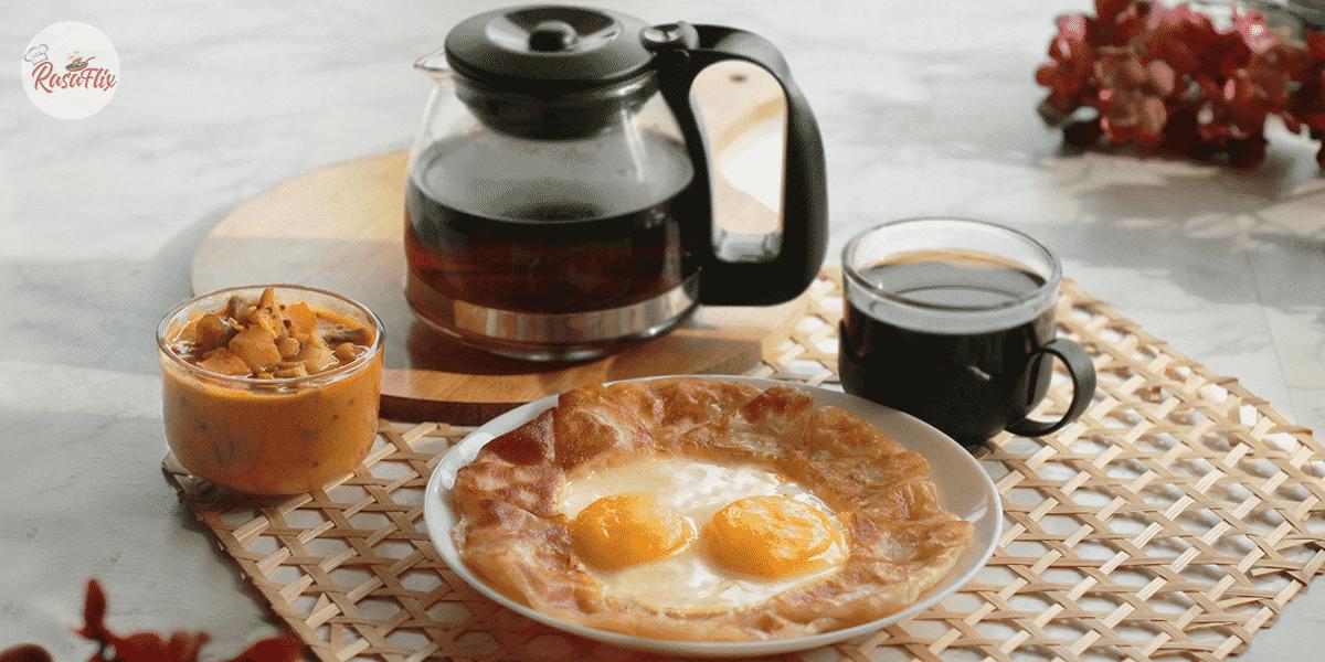 Resepi Roti Canai Sarang Burung & Kari Dal | Bird Nest Paratha & Dal Curry