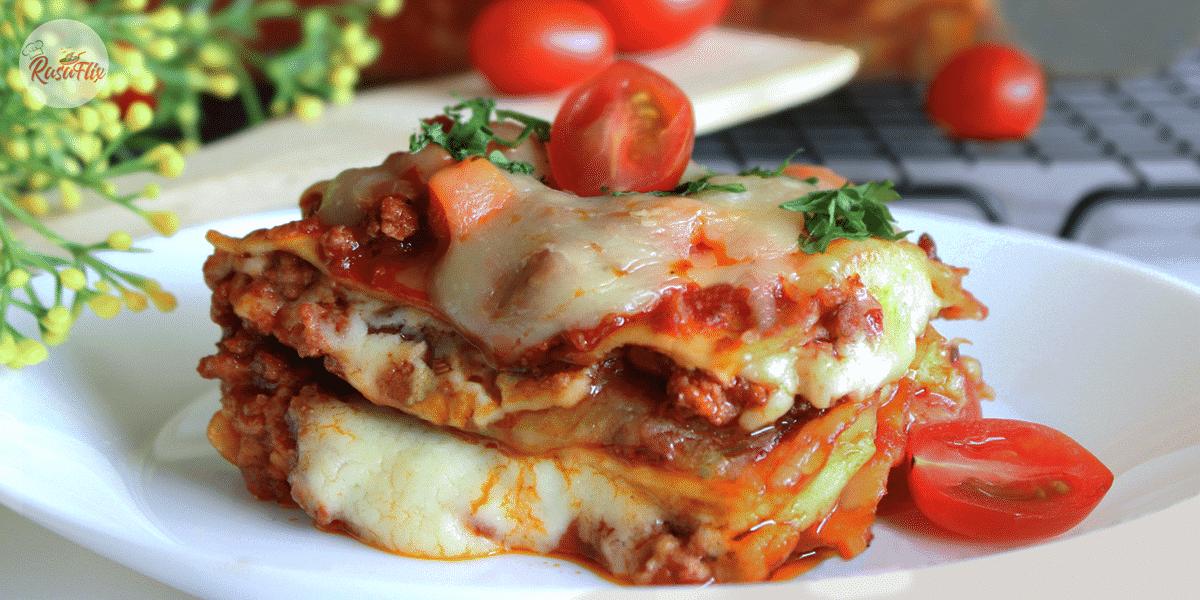 Resepi Lasagna Daging Keju Kaserol | Cheese Beef Lasagna Casserole Recipe