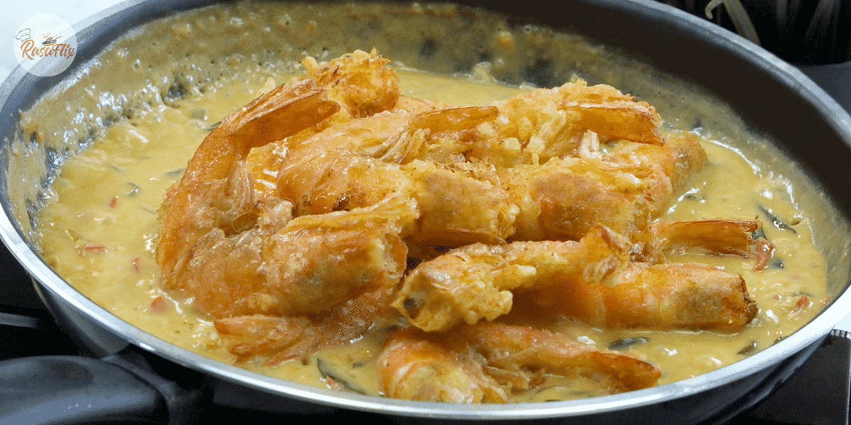 Buttered Prawn Salted Egg Recipe