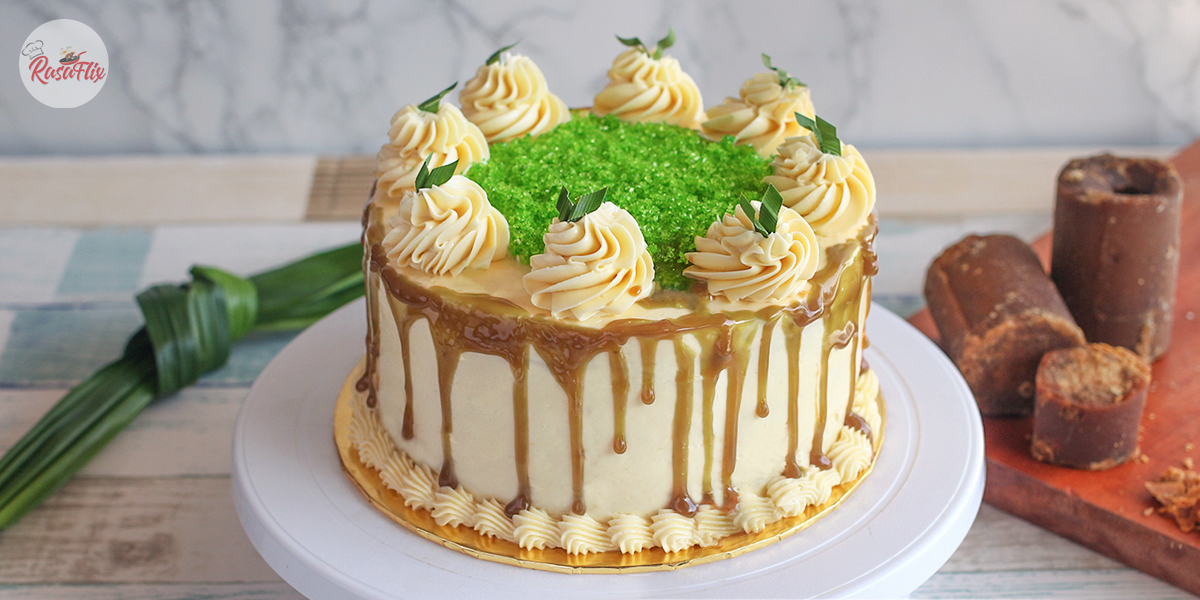 Pandan Palm Sugar Cake & Swiss Buttercream Frosting Recipe, Don't Miss It