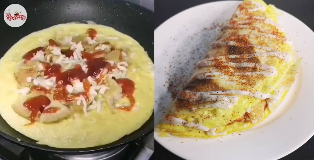 Yummy Snack Idea At Home, Let's Try Make Spicy Cheesy Wrap Recipe!