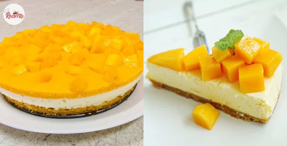 You Are In For A Special Treat With This Perfect No-Bake Mango Cheesecake!