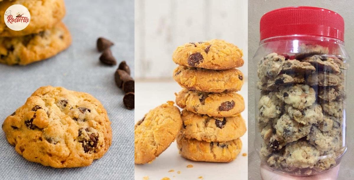 Chocolate Chip Cornflake Cookies Recipe, For Crunchy & Sweet Pleasure!